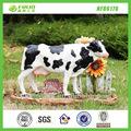 al aire libre decoración estatuilla de resina jardín la venta de la vaca
