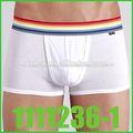 Hombres de bambú de los boxeadores de los hombres de encargo con ropa interior 100% shorts algodón boxer