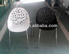de plástico al aire libre blanco moderno servicio de comedor silla