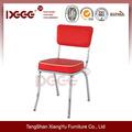 americana de apilamiento de cromo silla restaurante utilizados para la venta
