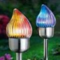 inoxydable tulipas de verre pour lampe torche solaire