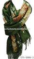 La Beau diseño caliente viscosa peonía impresa patrón Womens chales y envuelve