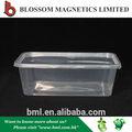 venta caliente 750ml reciclado pp desechables rectángulo cuadro fresco