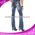 nuevo 2014 mujer tela de jean de mezclilla del fabricante de china