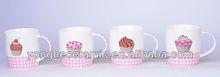 Suministro sabrosa taza de pastel de beber impresa tazas/mugs/tarros tazas