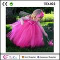 caliente de color rosa de la princesa de hadas flor niñas vestidos tutu
