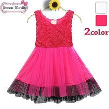 Venta al por mayor vestido de verano de moda 2014 eco- ambiente cómodo diseño de vestido para niña