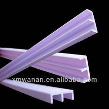Bande de porte en plastique dur pour la construction ou des meubles d'intérieur pour la fenêtre en verre balustrade