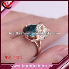 gran piedra flash chapado en oro anillos de venta al por mayor
