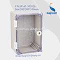 a prueba de agua caja electrónica de plástico con caja de montaje en pared