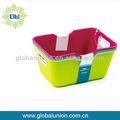 cesta de plástico con tapa