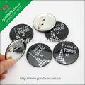 producción de la fábrica en venta hermosa impreso estaño botón insignia