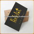 etiquetas colgantes para tarjetas de visita tipográfica de aluminio, ropa hangtag, hojas de encargo