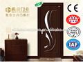 pvc mdf de madera de abeto modelos de puerta de madera con la fabricación de vidrio