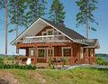 nuevo diseño de dos pisos de casas prefabricadas de madera viva