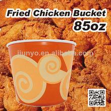 impresos personalizados de papel desechables cubo de pollo frito