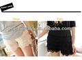novas meninas senhoras crochet lace tiered saia curta com calça de segurança moda feminina calças curtas