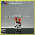 2014 hello kitty impresa vaso de vidrio y vaso de vidrio