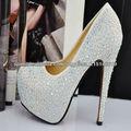 cristal nuevo 2013 cabritilla bombas de cuero para zapatos de las mujeres