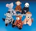 animal de la felpa juguetes, elefante de peluche, zebra, tigre, mono, panda