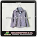 nuevo diseño de otoño al por mayor de algodón marcada de los niños camisa de manga larga camisa de los niños
