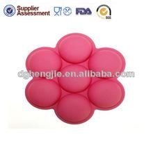forma redonda de silicona taza de molde de la torta de silicona
