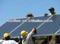 5kw sistemas de energía solar para la casa generador solar, 5kw sistema solar para el techo de metal marco