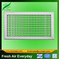 doble deflexión rejilla de aire rejillas de ventilación de plástico