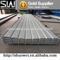 Galvanizado corrugado hoja de techos, chapa de acero galvanizado