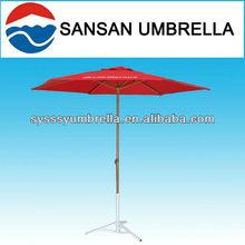rojo 240cm tubo cuadrado de aluminio sombrilla de playa paraguas