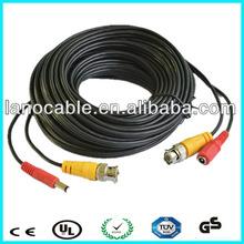 de alta calidad dc bnc cable de extensión de cable de alimentación para seguridad circuito cerrado de televisión