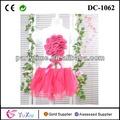 atacado roupas de bebê para uma flor bordado vestido da forma