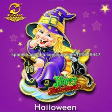 trabajo hecho a mano brillaba catoon recorte del niño mago corona de fiesta de halloween decoración de la puerta ventana de etiq