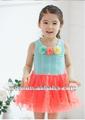 Enfants robes d'été blanche 2014 anniversaire,/bleu robes pour les filles bébé vêtements d'enfant