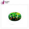 moda de bajo precio sintético de color verde de cabujón oval de ópalo