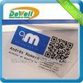 CR80 pvc tarjeta de visita transparente hacen
