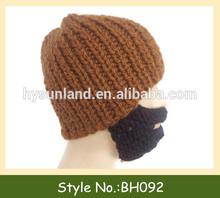 grueso de la aguja de tejer sombrero de la barba