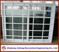 UPVC ventana deslizante con barra de acero plana francés Marco