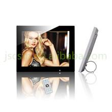 montaje en la pared marco de fotos digital 12 pulgadas multifunción vídeo / música / fotos pantalla táctil