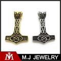 Los nuevos hombres de la moda del oro de plata vikingo Thor Hammer colgante, acero inoxidable 316L colgante del encanto, joyería