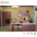 American style classique boisées armoires de cuisine en provenance de chine, enveloppé de vinyle portes d'armoires de cuisine