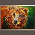 animales hechos a mano pintura al óleo moderna de oso