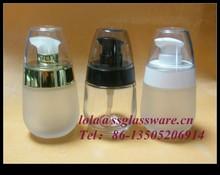 venta caliente 35ml crema botella de vidrio con la bomba