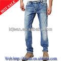 2014 de alta calidad tela vaquera/mezclilla licht blauw pantalones vaqueros hombre( ldqe85)