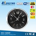 720p hd h. Rtsp 264 reloj de pared de cámaras de seguridad inalámbrica wcc-720swf