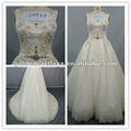 lujoso gd110923 sin mangas marroquíes con cuentas vestido de novia