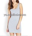 Mejor- modelo de venta de color puro render vestidos sin mangas vestido del club