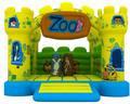 Barato divertido gorila en el zoológico hinchables banderas Castillo gorila