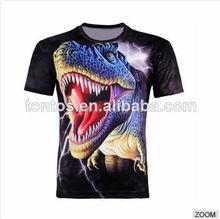 De los animales de impresión especial los hombres fuerte antibacteriano enfriar único scary t- shirt