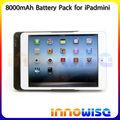 nuevo 2013ipadmini para paquete de batería de caja de la batería mah 8000